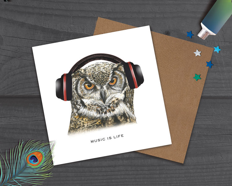 music card, teenager card, Birthday Card for him, Man Card
