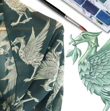 Liverpool Liver Bird Scarf created from original art NOW IN STOCK